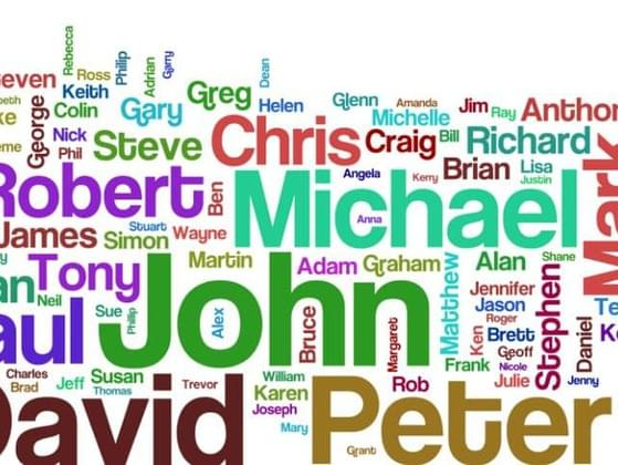 Out these eight names which one do you like the best? x