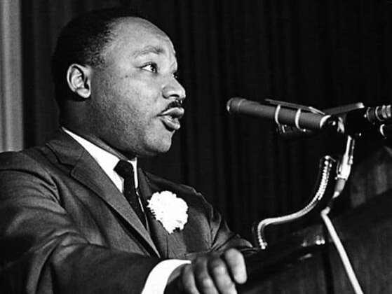 Where did MLK deliver his famous