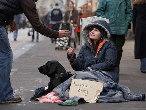 If you see a homeless person asking for help, what do you do?