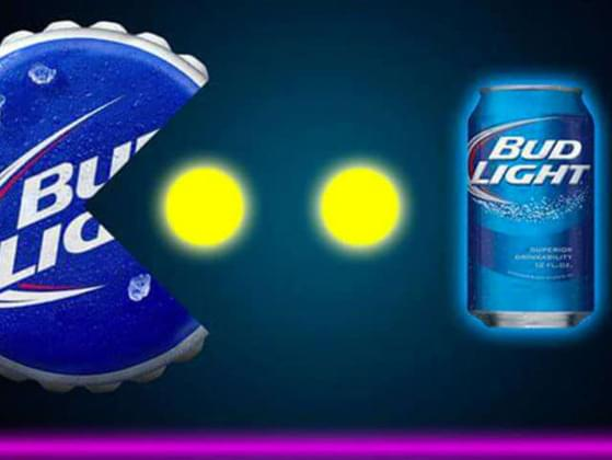 Which hashtag does Bud Light use to try and lure unsuspecting young guys into a wild and crazy night?