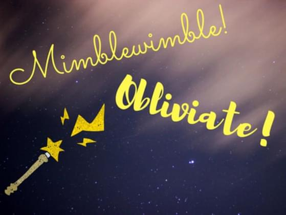 Would you rather cast Mimblewimble or Obliviate?