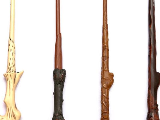 BONUS! Pick a wand to cast your spells. From left to right: Voldemort, Harry, Hermione, and Ron.