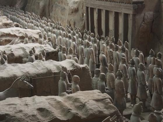 The Terracotta Army is a collection of terracotta sculptures depicting the armies of Qin Shi Huang, the first Emperor of China.