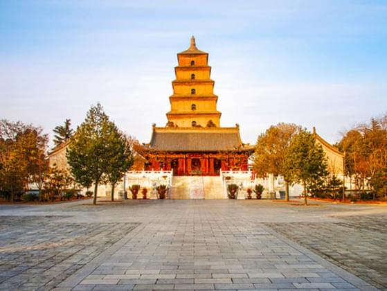 Giant Wild Goose Pagoda or Big Wild Goose Pagoda is a Buddhist pagoda located in southern Xi'an, Shaanxi province, China.