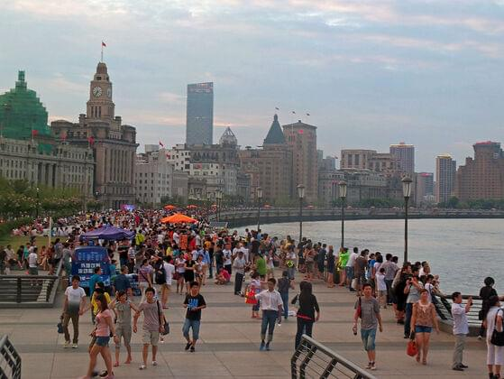 The Bund or Waitan is a waterfront area in central Shanghai. It is a famous waterfront and regarded as the symbol of Shanghai for hundreds of years.