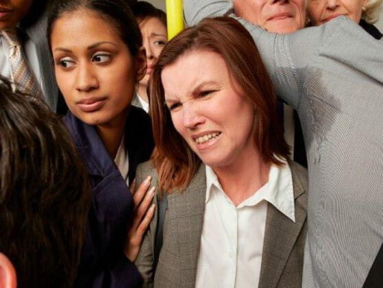 What's your reaction when someone stands too close to you on public transportation?