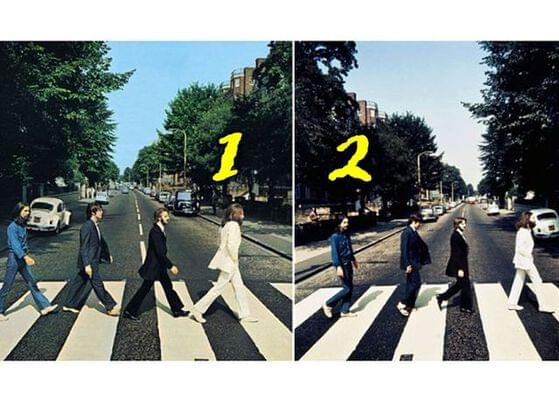 Which is the final album cover of The Beatles' Abbey Road?