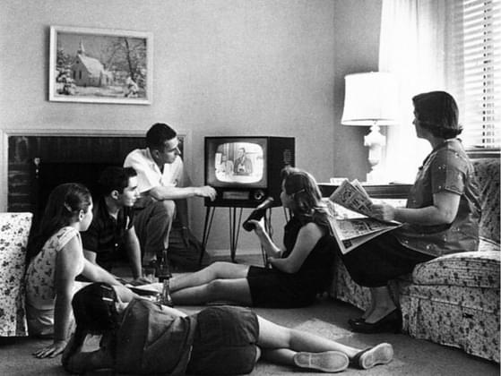 How did your family used to watch TV?