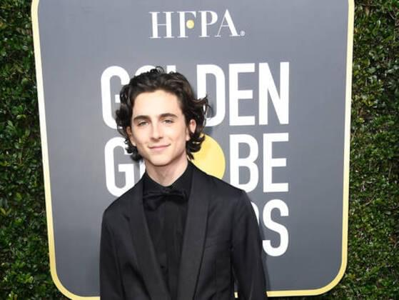 The very first picture that captures Timothée on the red carpet.