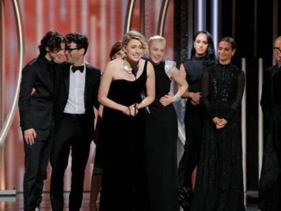 Here' s the picture of oh-so-cute Timothée receiving an award, though not for the best actor.