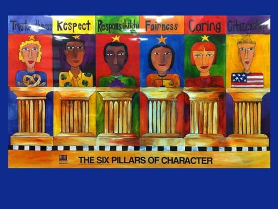 What are the six character traits?