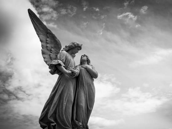 Do you sometimes feel that some force or entity is protecting you from harm, like a guardian angel?