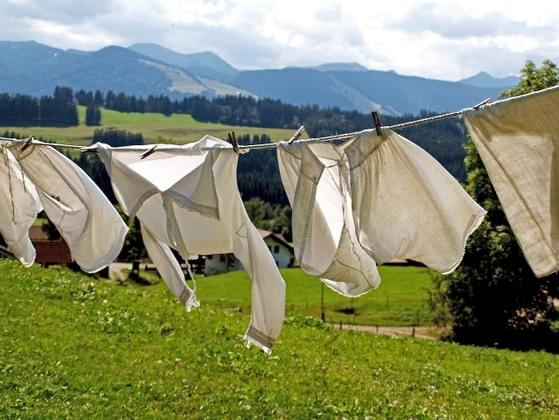 Your partner has been promising to put their laundry away for a week. What do you do?
