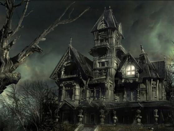 You're in a haunted house, what are you most likely doing?