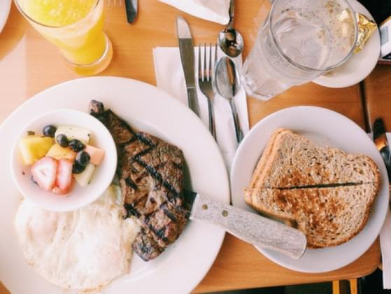 Steak makes a delicious dinner, but can be a decent breakfast too! True or false?