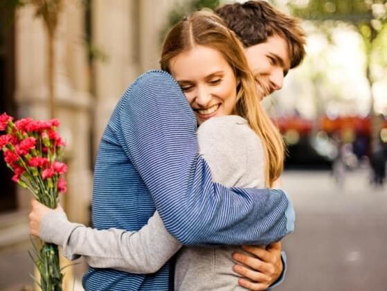 Scientists say that frequent hugs between the women and their partners contribute to higher levels of oxytocin( a feel-good hormone) and lower blood pressure.