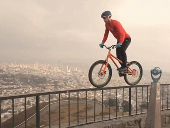 Which of the following is not a real trick performed by bicycle stunt riders?