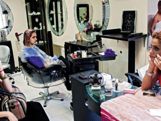 When you go to a hair salon which is very crowded and you have to wait, how will you act ?