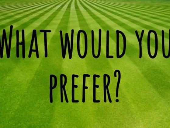 What would you prefer?