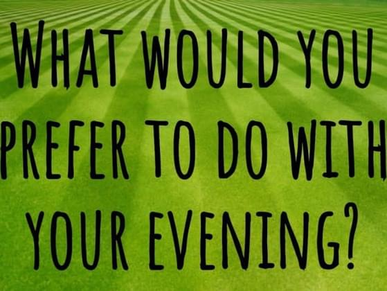 What would you prefer to do with your evening?