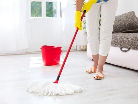 What do you use to wash the floor?