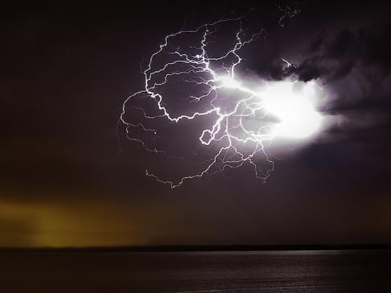 What should you do if you're caught out in a thunder storm?