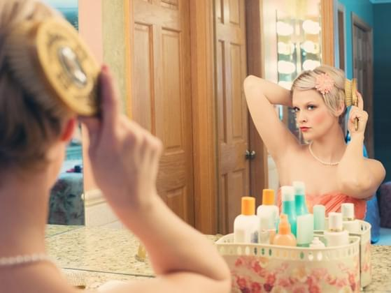 How much time do you spend in front of a mirror each day?