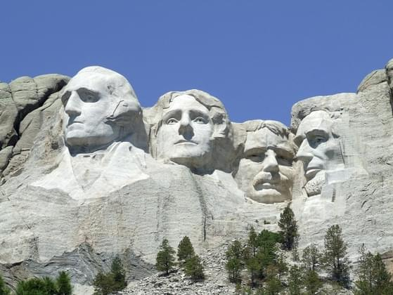 How many presidents are carved into Mount Rushmore?