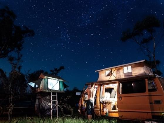 What's the best part about camping?