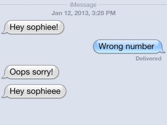 You get a wrong number text. What do you do?