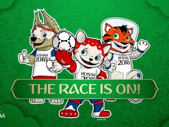 What's the name of the mascot for World Cup 2018?