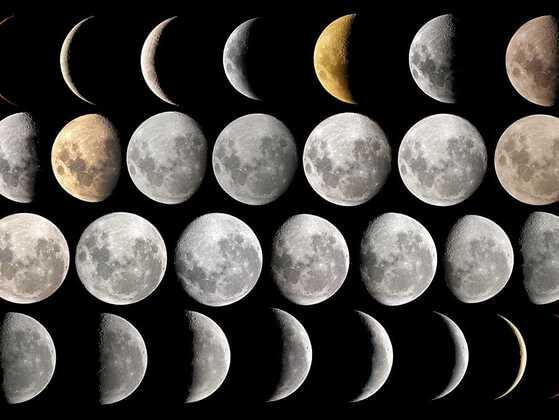 What causes the phase of the Moon to change each night?