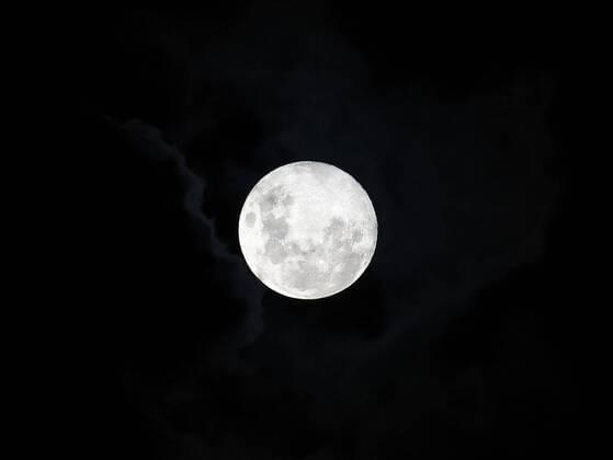 The Moon gets its light from the