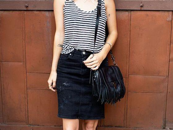 Tank tops are very much in trend. you can never go wrong with striped tank tops. If you are short in height, make sure the top has vertical stripes, not horizontal as this will make you look taller.