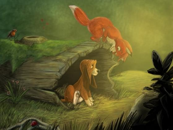 What were the name of the two main characters in The Fox and The Hound?