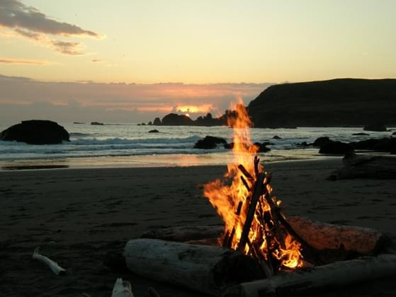It's now getting a bit dark so it's best to make a fire. What is one of the best method for lighting a fire?