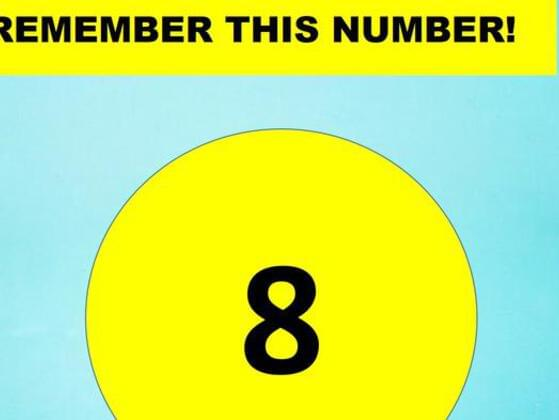 Remember this number!