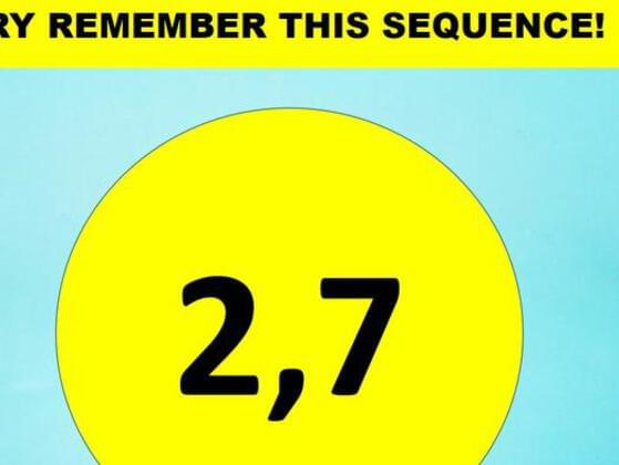 Try remember this sequence !