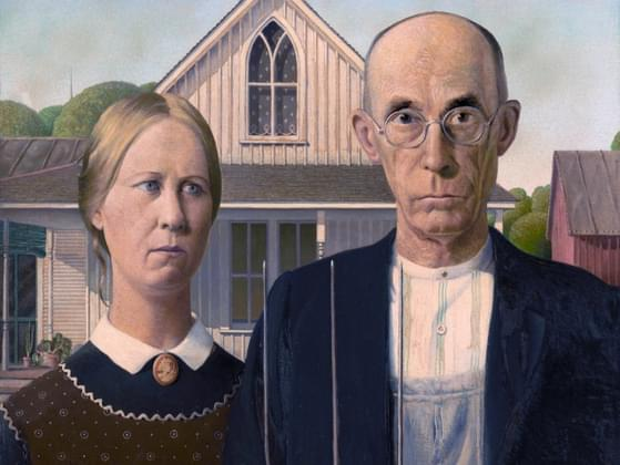 This painting, by Grant Wood, is called what?