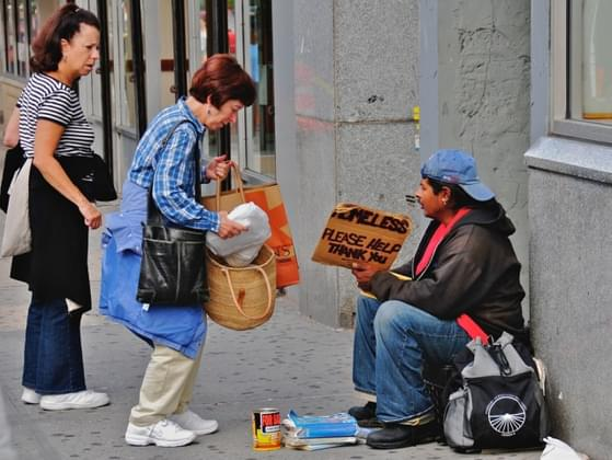 How often do you donate to charity or share with the homeless?