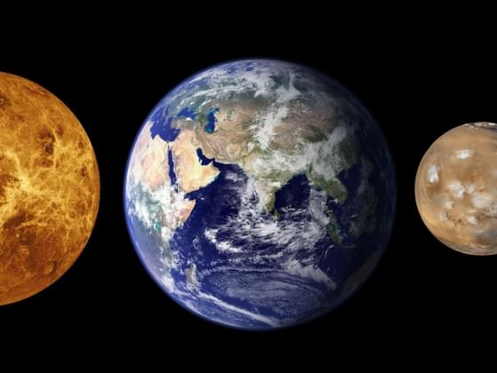 Which of these planets is closest to the sun?