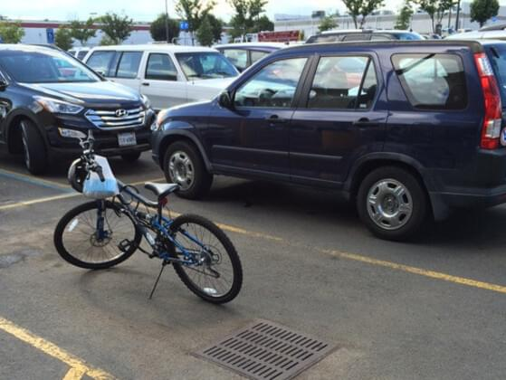 Someone steals your parking spot. You…