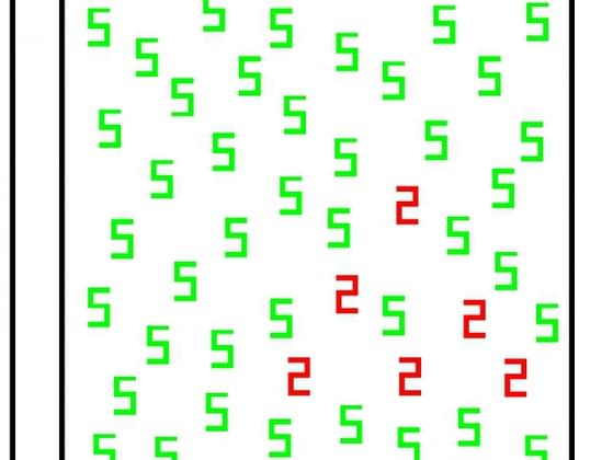 Which number is shown in red?