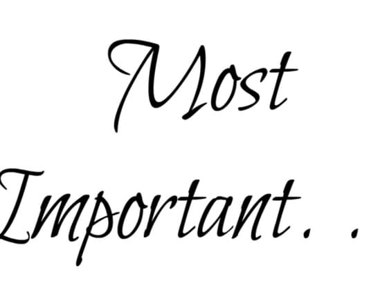 Which is most important?