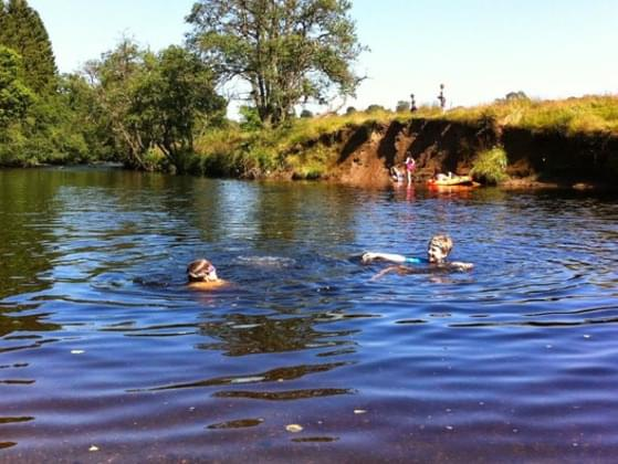 You find what you think is a great swimming spot, but you see there's a No Swimming sign posted. What do you do?