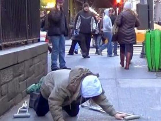 When you are walking in the street, you see a old woman need to be helped, you...