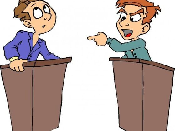 Does having a debate with someone often change your mind?