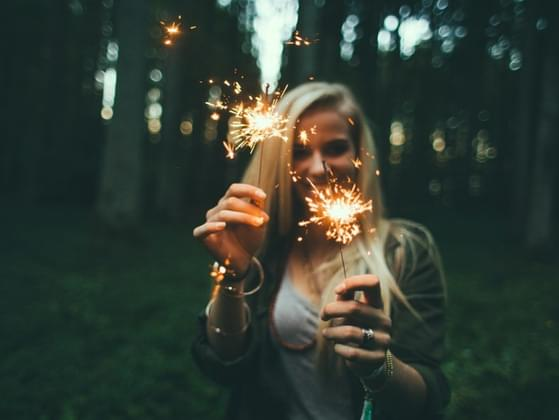 Sparklers on the 4th of July are...