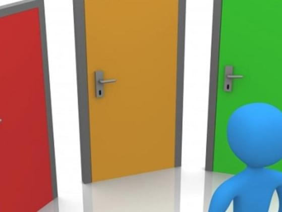 There are three doors. On each door have a label in there: Love, Peace, Mystery. Which door do you pick?