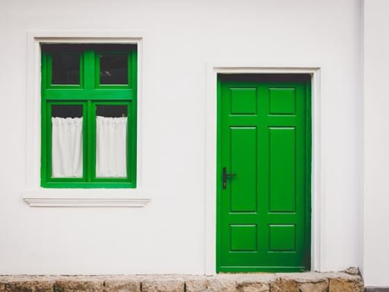 If you could paint your front door one of the following colors, what color would it be?